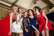 happy girls singing into a microphone - 81435724