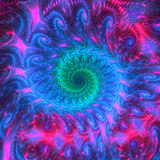 Psychedelic abstract swirl - 81435943