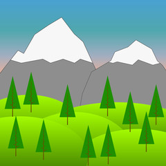 Raster Background with Mountains  4