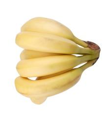 many yelloew banana isolated