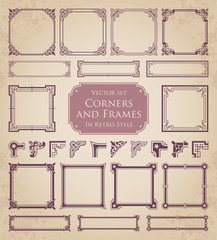 Corners and frames in retro style