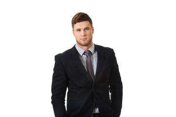 Successful handsome businessman.