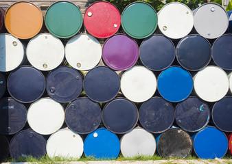 metal barrel, oil container