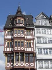 Pittoreskes Fachwerkhaus auf dem Römerberg in Frankfurt am Main