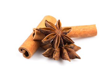 Stars anise and Cinnamon