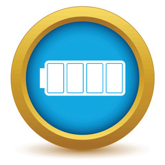 Gold battery icon