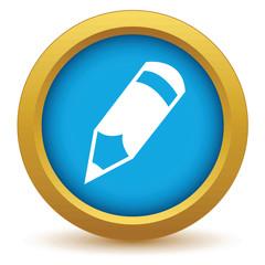 Gold pencil icon