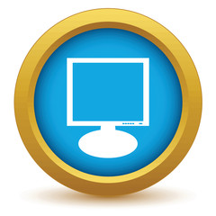 Gold monitor icon
