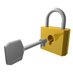 南京錠と鍵