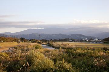 rural landscape of autumn