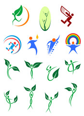 Eco friendly and environment protection symbols