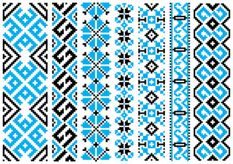 Ethnic embroidery ornaments seamless pattern