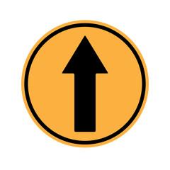 Traffic sign . Drive Straight