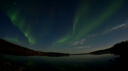 Timelapse of the Aurora borealis (Northern lights)