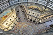 Leinwanddruck Bild - Milano Galleria Vittorio Emanuele dall'alto