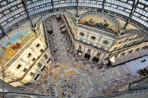 Foto op Canvas Artistiek mon. Milano Galleria Vittorio Emanuele dall'alto