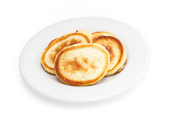 Homemade pancakes on a plate