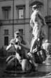 Leinwanddruck Bild - Fontana del Moro (Moor Fountain) - Piazza Navona in Rome
