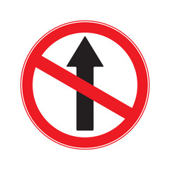 NO Ahead Only  , NO  Drive Straight