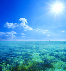 beautiful seascape and blue sky