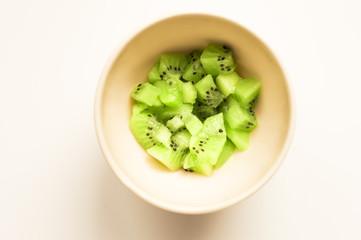 Kiwi in white bowl