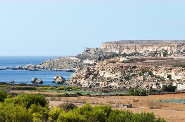 rocks bue sea ans natur on Malta