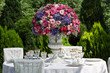 Table setting at a luxury wedding reception - 81442927