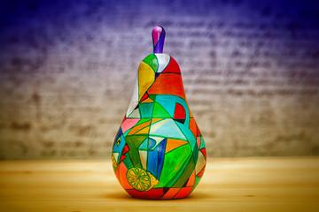 Ornamental pear-matryoshka wooden, hand-painted. handmade