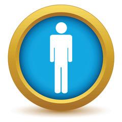 Gold man icon