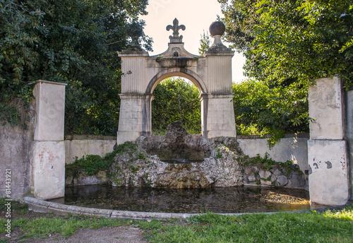Leinwanddruck Bild Fontana di Villa Pamphili