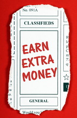 Earn Extra Money Newspaper Classified Ads