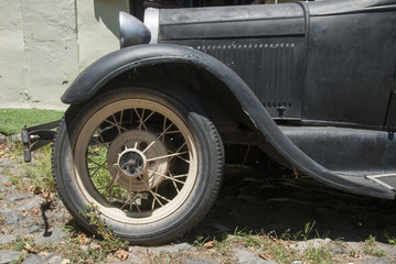 Vintage - Old Style Car - Closeup