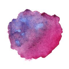 Watercolor purple spot