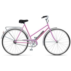 Vector Female Bicycle