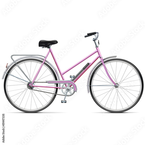 Vector Female Bicycle - 81447338