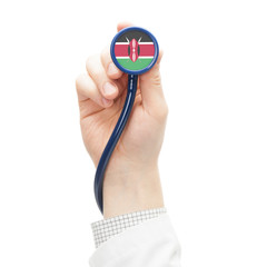 Stethoscope with flag series - Kenya