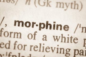 Dictionary definition of word morpine