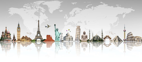 Travel the world monument concept © sdecoret