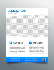 Corporate business flyer template - light blue design