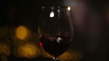 Red Wine Poured for Two