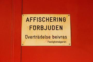 Affischering förbjudem