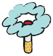 doodle concept stop smoking