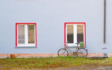 Fahrrad am Fenster