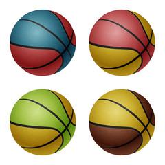Set of vector basketballs
