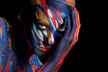 Colorful portrait of a girl.