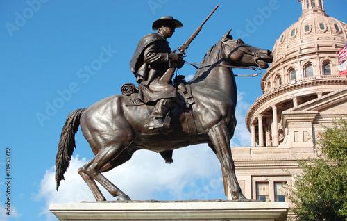 Poster Zuid-Amerika land Texas Ranger Statue