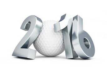 golf ball 2016 on white background