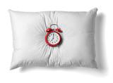 pillow and clock
