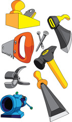 Набор инструмента  для обработки дерева