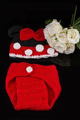 Conjunto de lana para bebé.